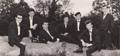 The Chancellors Showband (Frankie Smith, Tommy Leddy, Mickey Rooney, Harry O'Reilly (author), Tony Cassidy, Paddy Toner, Ernie McCarthy)
