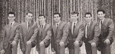 The Toppers Showband (Frankie Smith, Tommy Moonan, Harry O'Reilly (author), Mickey Rooney, Paddy Toner, Johnny Milne, Tommy Leddy)